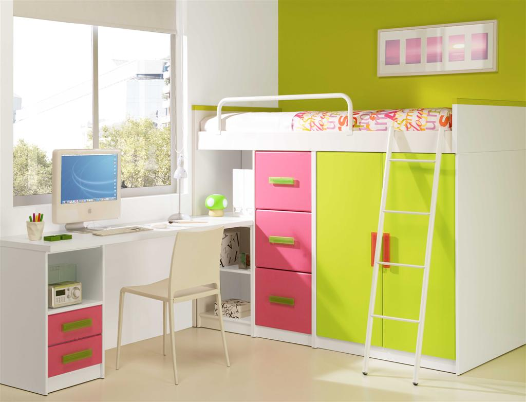 Image of: Teen Loft Bed Full Colors
