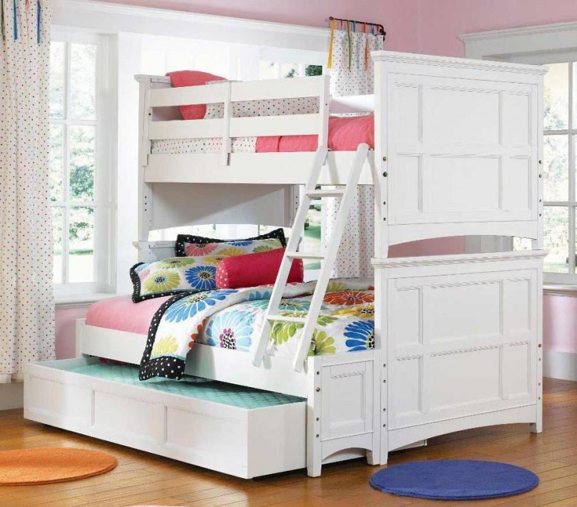 Teen Loft Bed White
