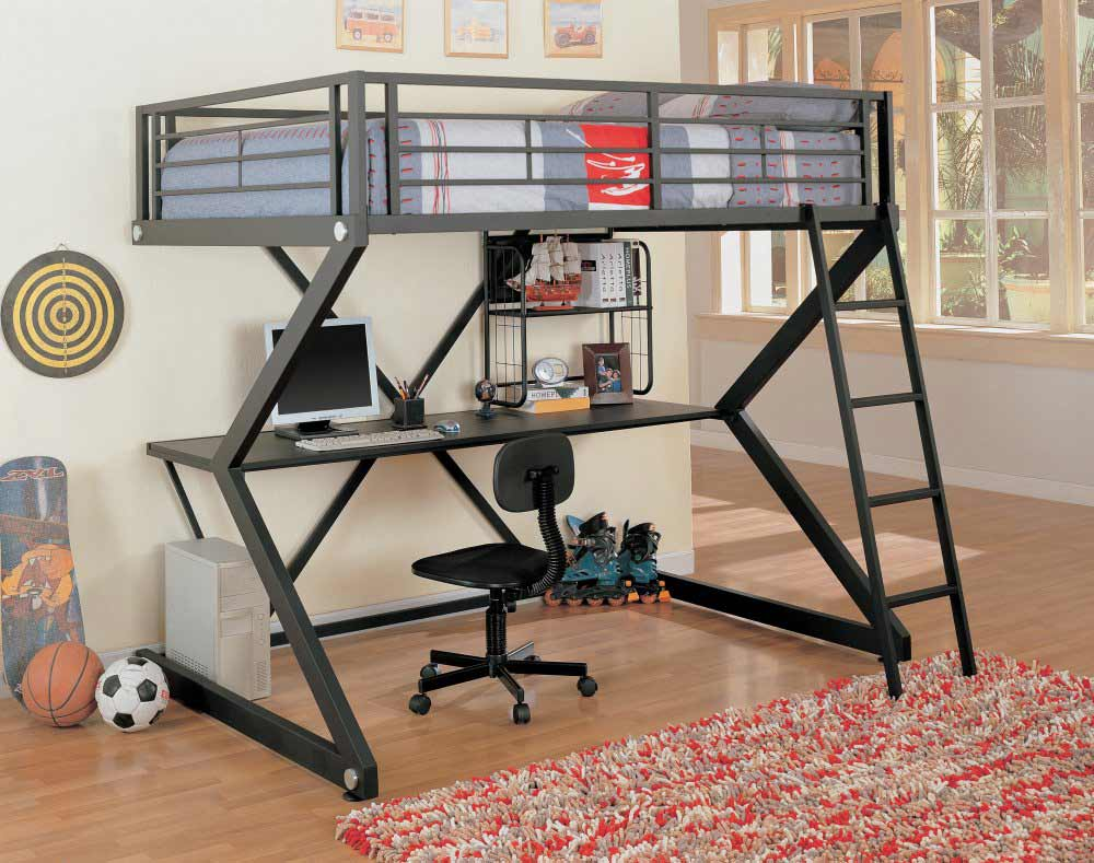 Image of: Teen Loft Bed With Desk