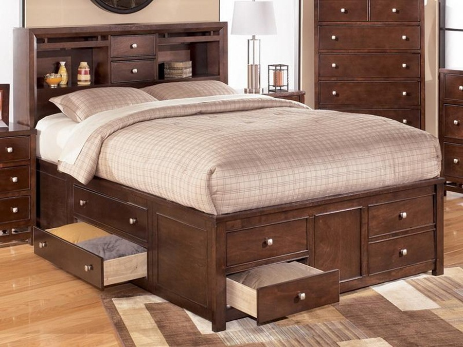 Top King Size Bed with Drawers