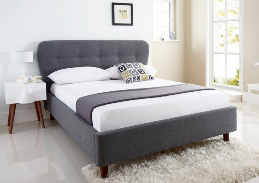 Image of: Top King Size Upholstered Bed