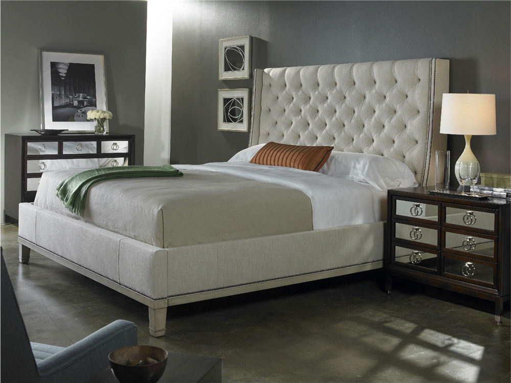 Image of: Tufted King Bed Color