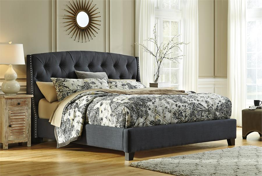 Image of: Tufted King Bed Fabric