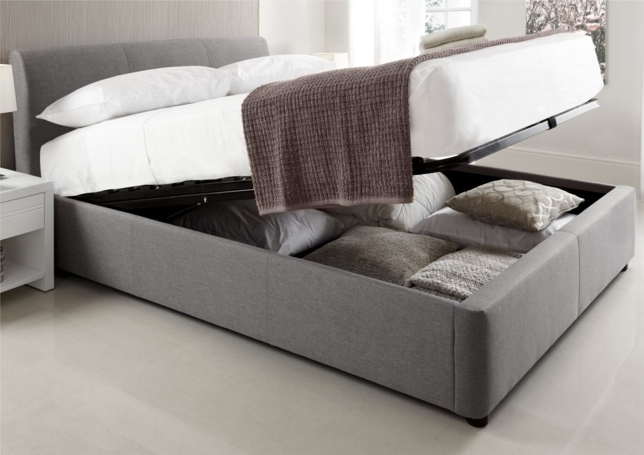 Image of: Tufted King Bed Storage