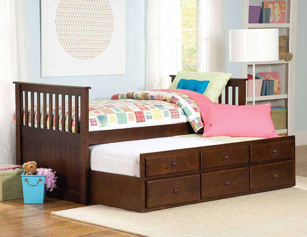 Image of: Twin Beds With Trundle Simple