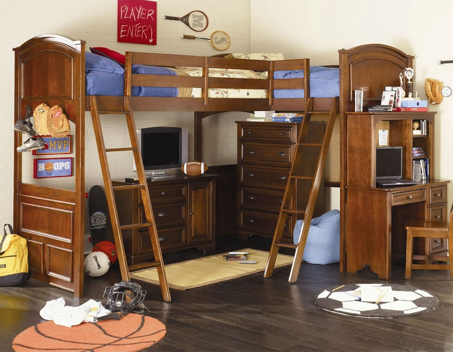 Twin Boy Bunk Bed Loft
