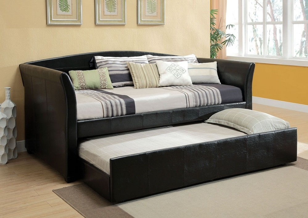 Image of: Twin Day Bed Leather