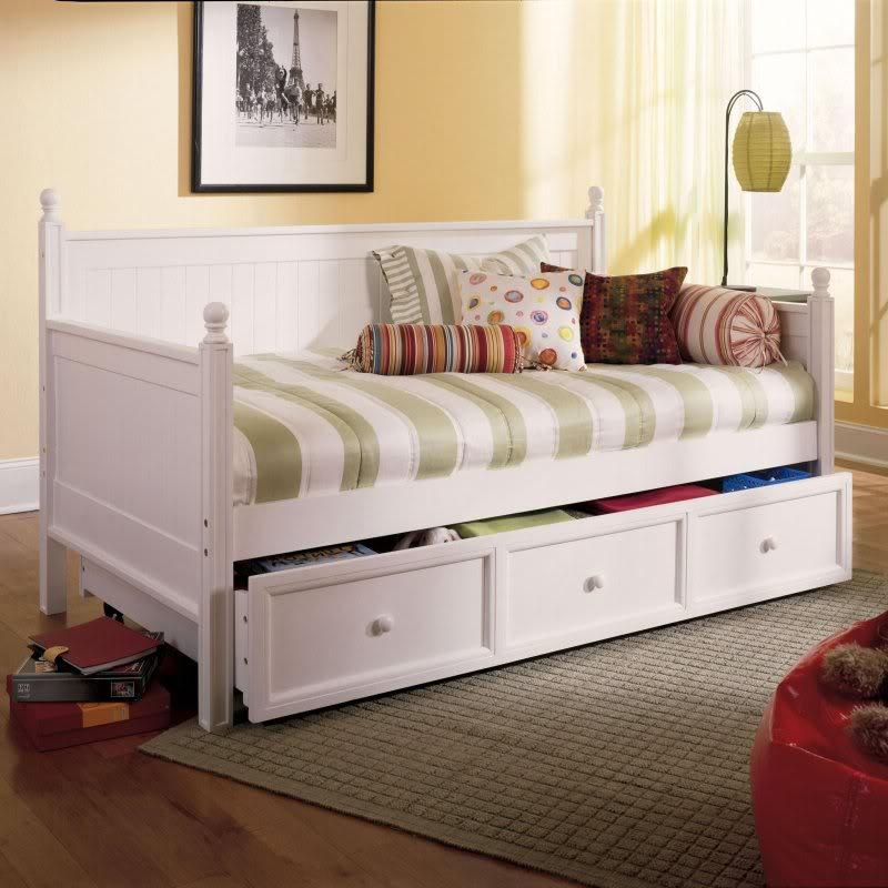 Twin Day Bed White