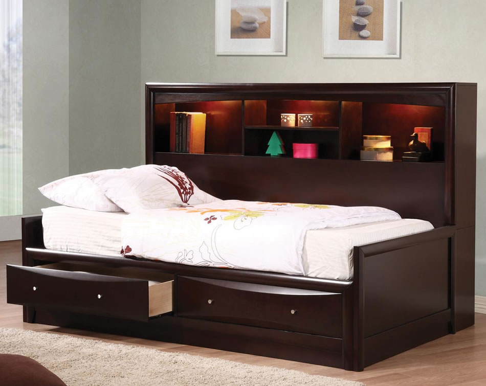 Image of: Twin Day Bed With Drawers