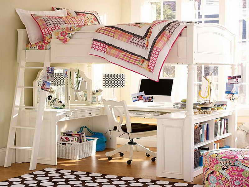 Image of: Twin Loft Bed with Desk Underneath