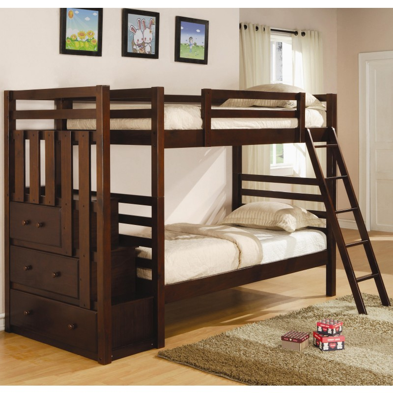 Image of: Twin Loft Bed with Storage Plans