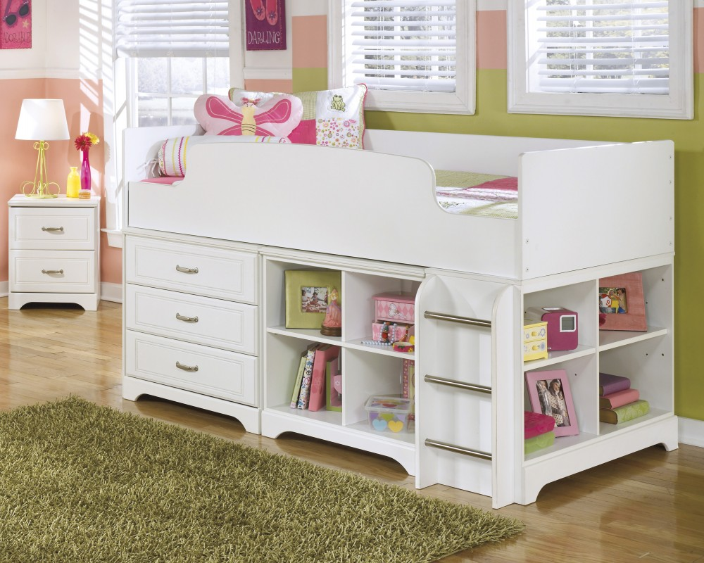 Image of: Twin Loft Bed with Storage Steps
