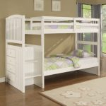 Twin Loft Bed with Storage White