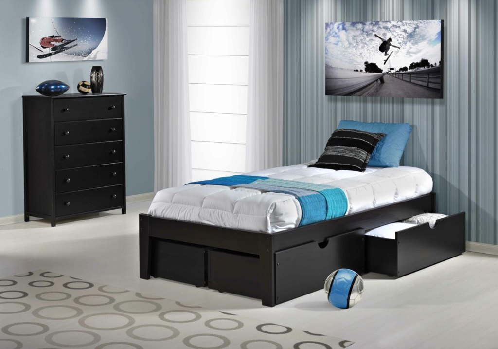 Twin Platform Beds with Storage