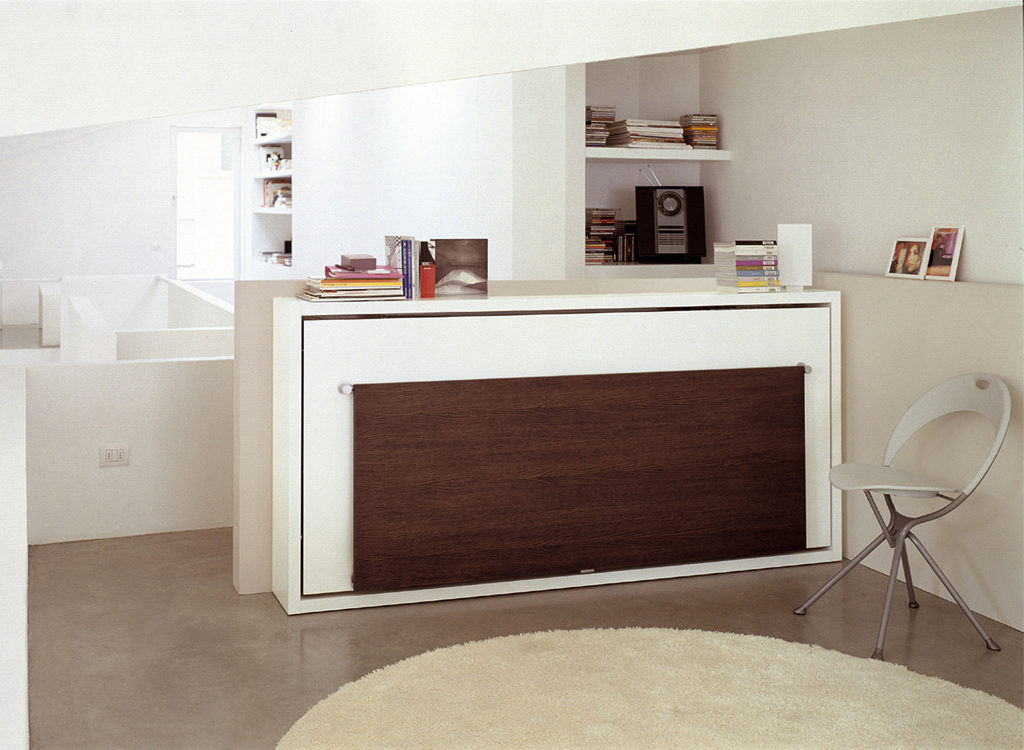 Image of: Twin Wall Bed Small
