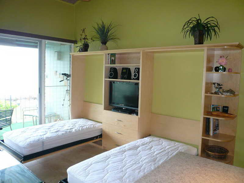 Image of: Twin Wall Bed Storage