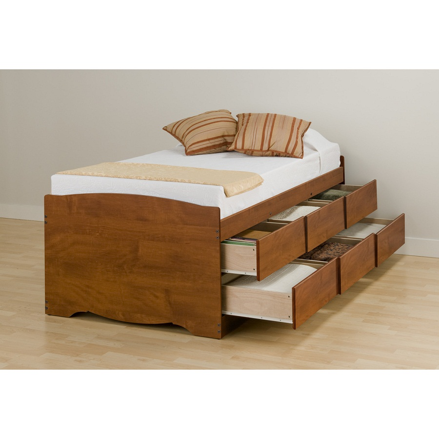 Image of: Twin XL Platform Bed Design