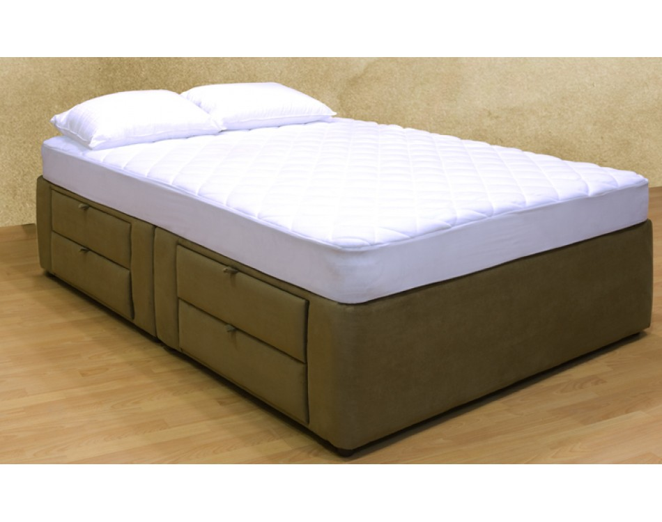 Image of: Twin Bed Frame With Drawers For Home