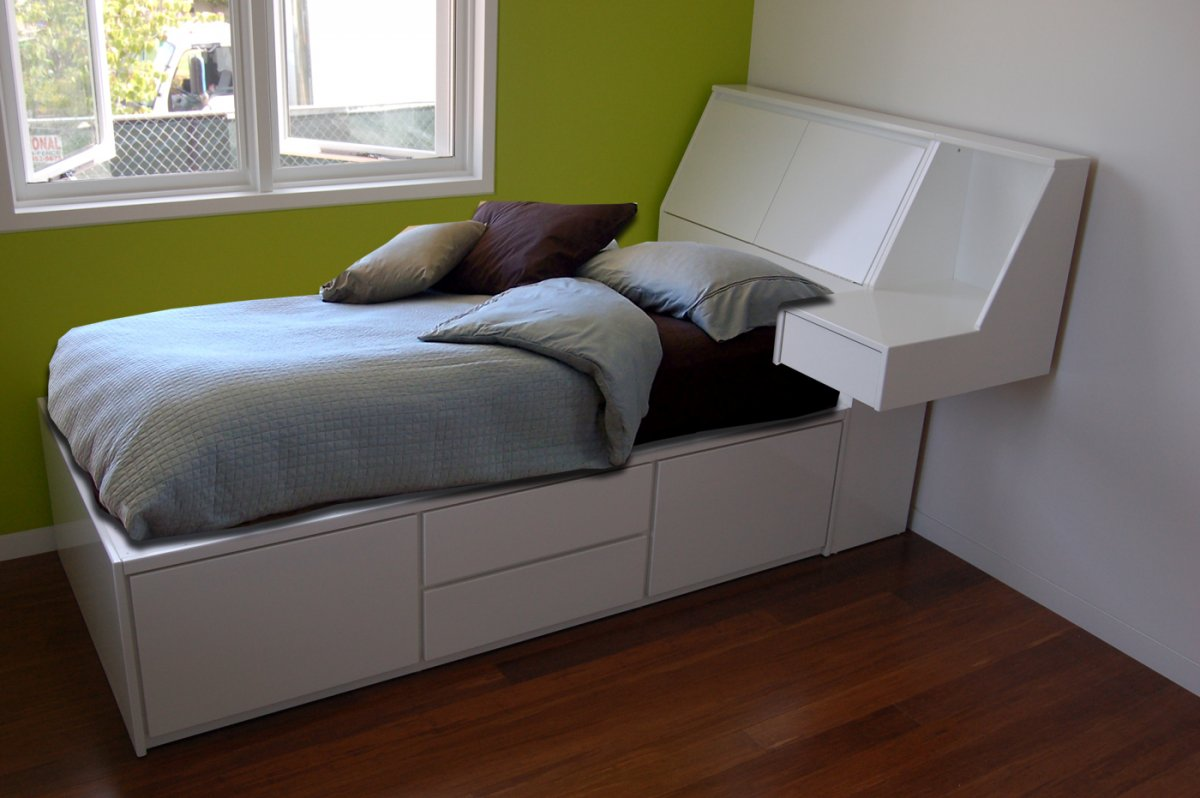 Image of: Unique Wood Twin Bed Frame