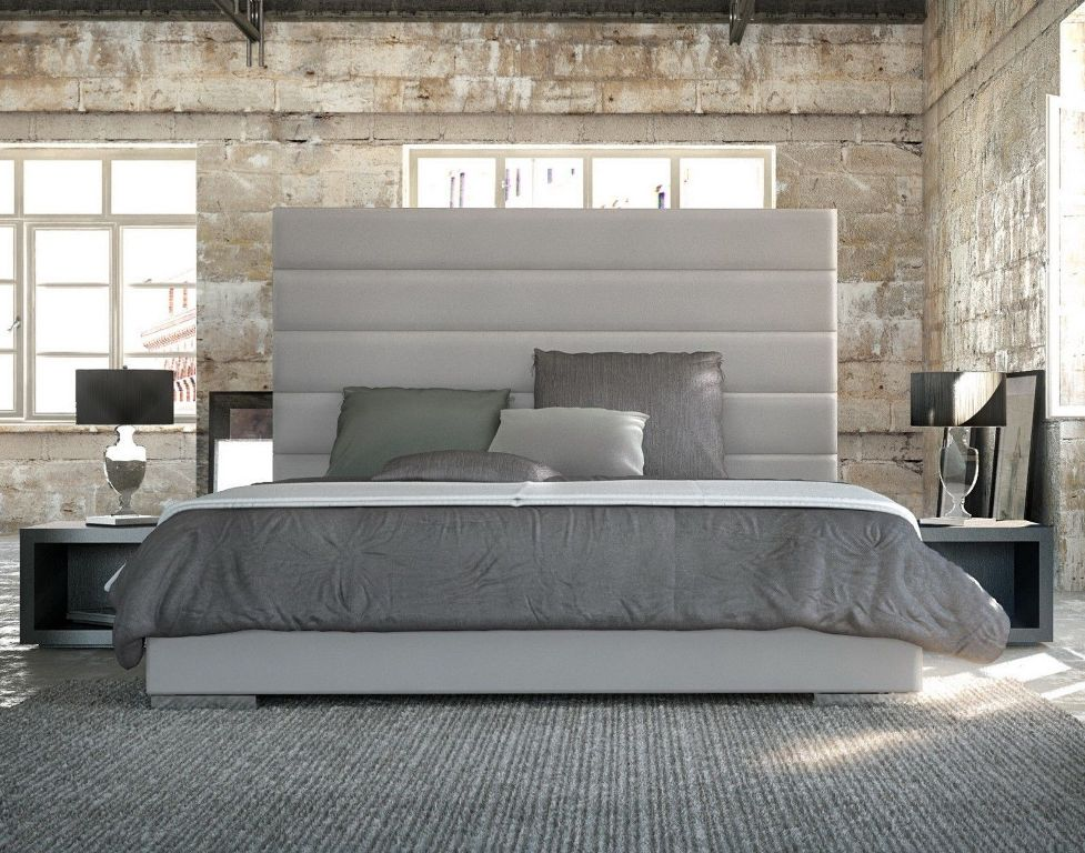 Image of: White King Size Bed Frame with Headboard