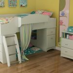 White Loft Bed for Kids