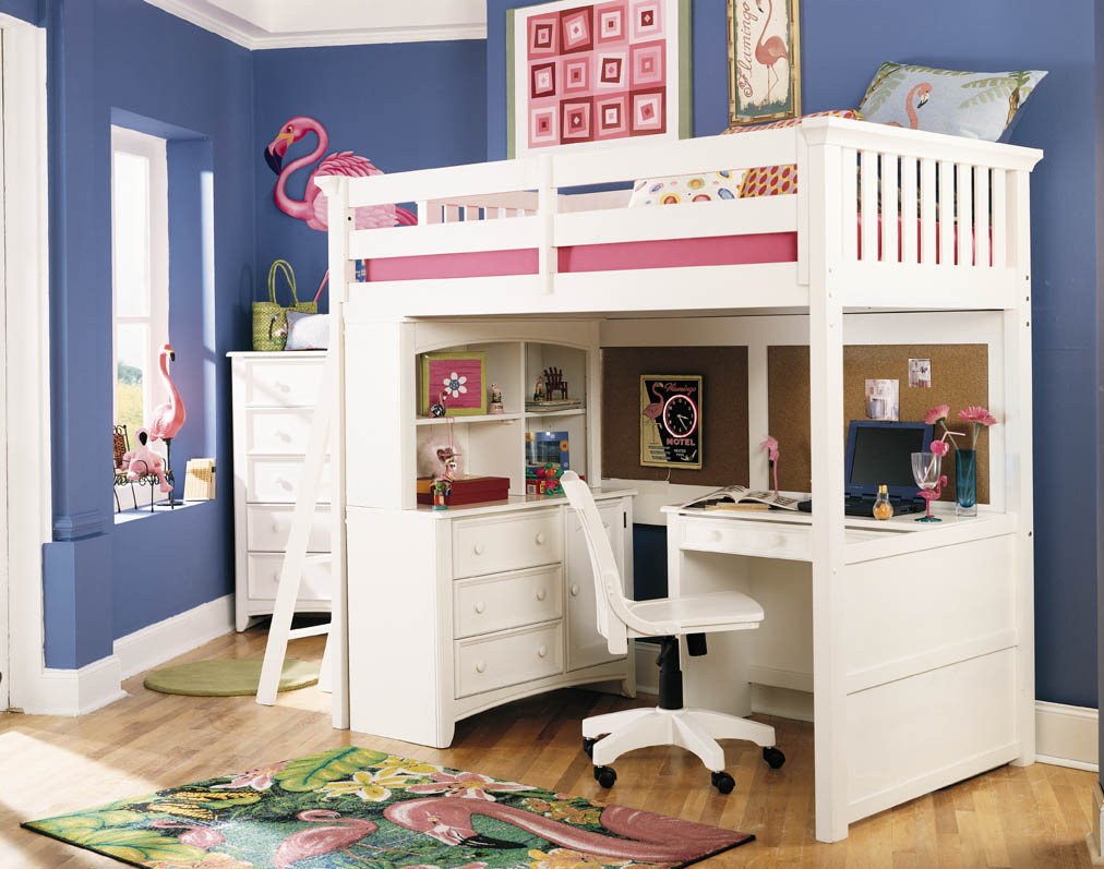 Image of: White Loft Bed for Kids Ideas