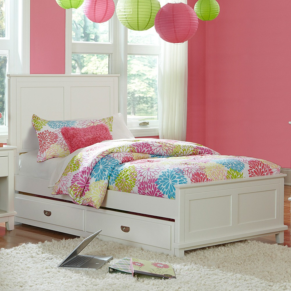 Image of: White Twin Bed With Trundle