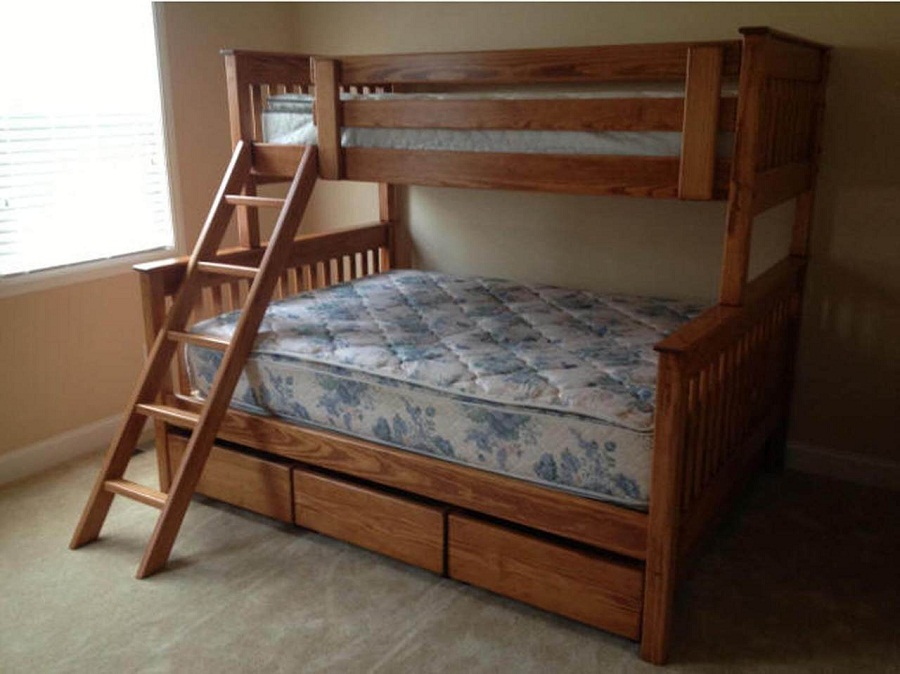 Image of: XL Twin Bed with Ladder
