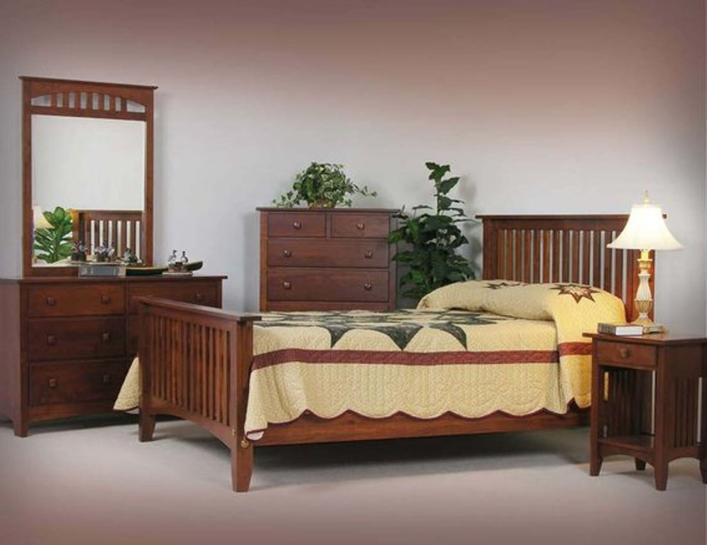Image of: Antique Mission Bedroom Furniture