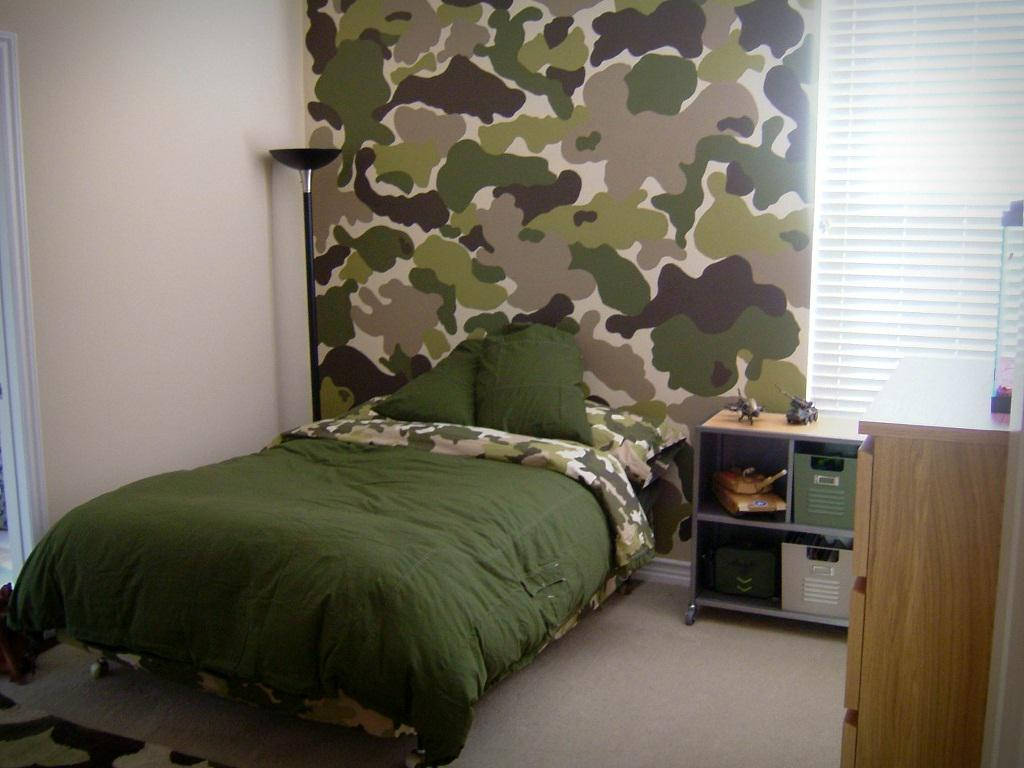 Image of: Army Camo Bedroom Ideas