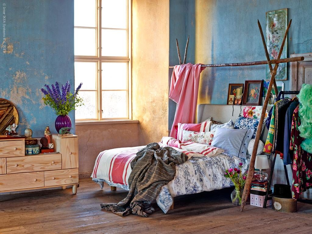 Image of: Bohemian Bedroom Ideas DIY