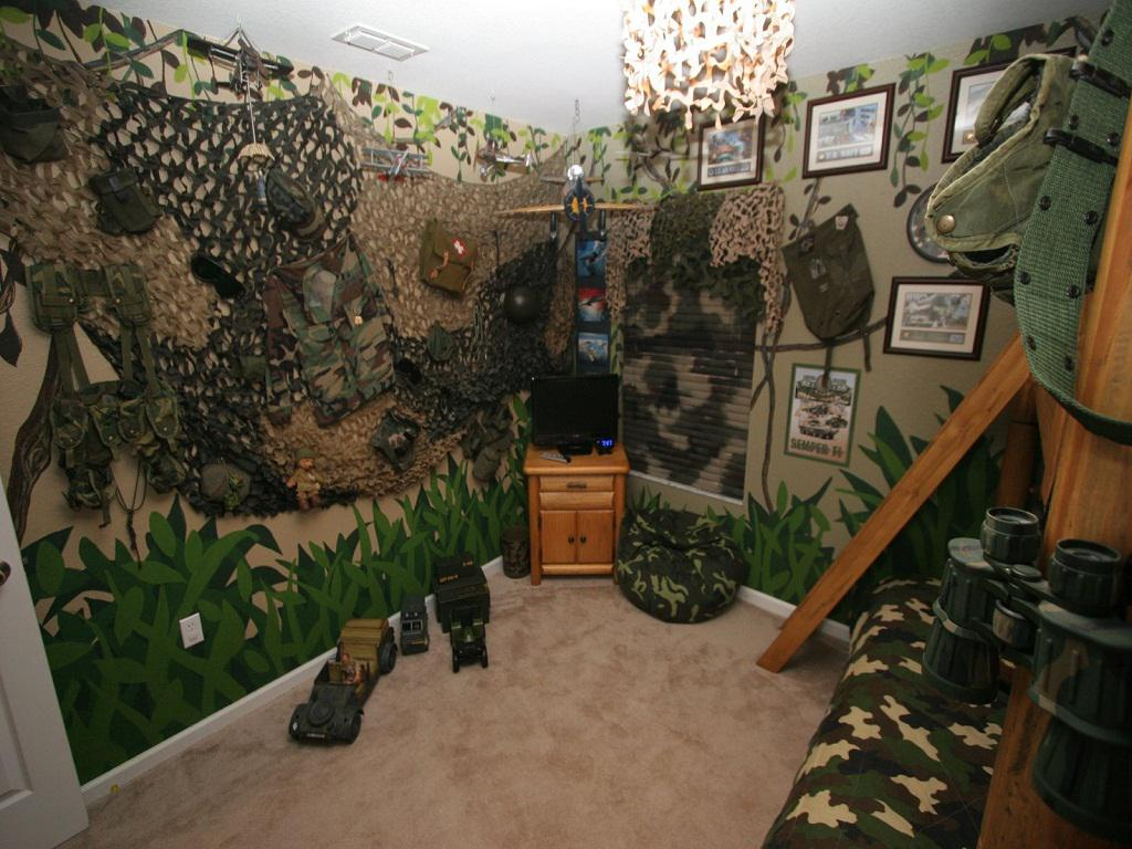 Image of: Camo Bedroom Decorations