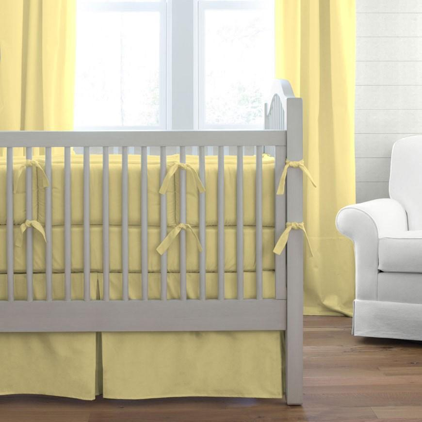 Image of: Cheap Solid Color Crib Bedding