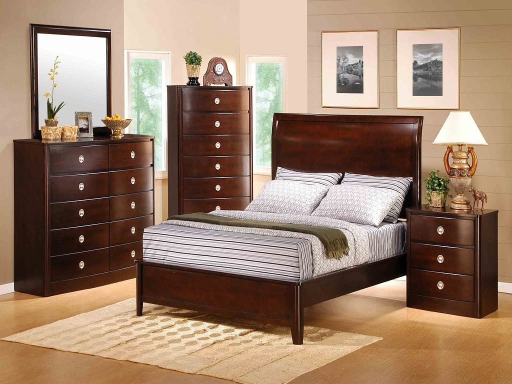Image of: Cherry Wood Bedroom Sets Cheap