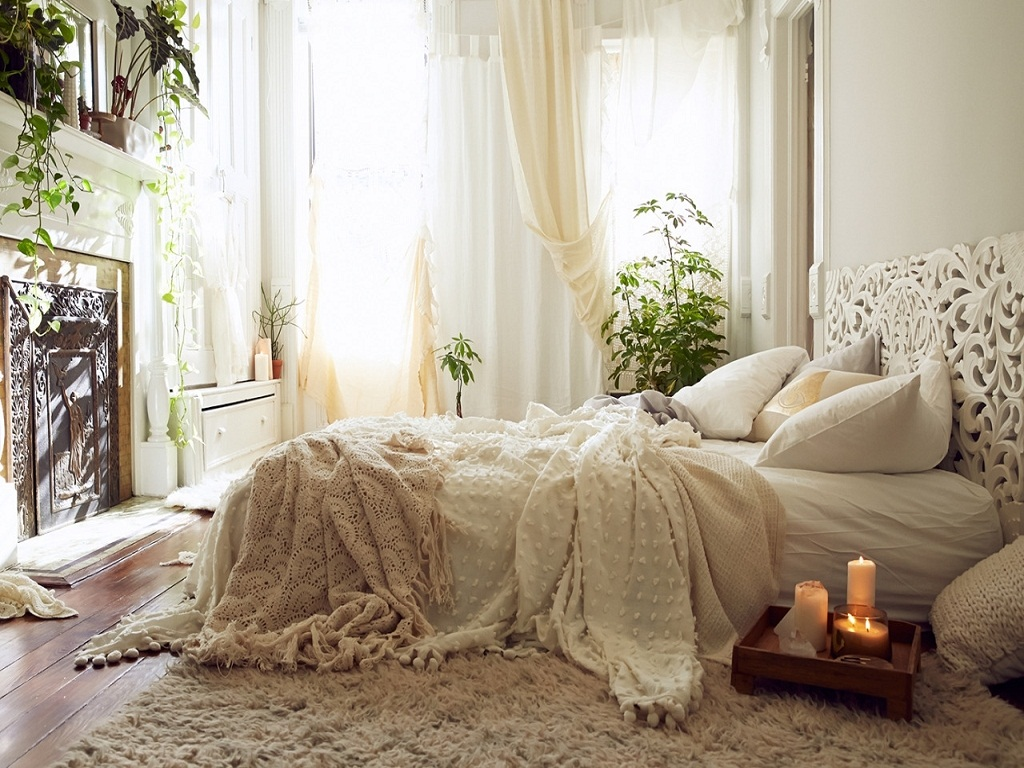 Image of: Cute Bohemian Bedroom Ideas