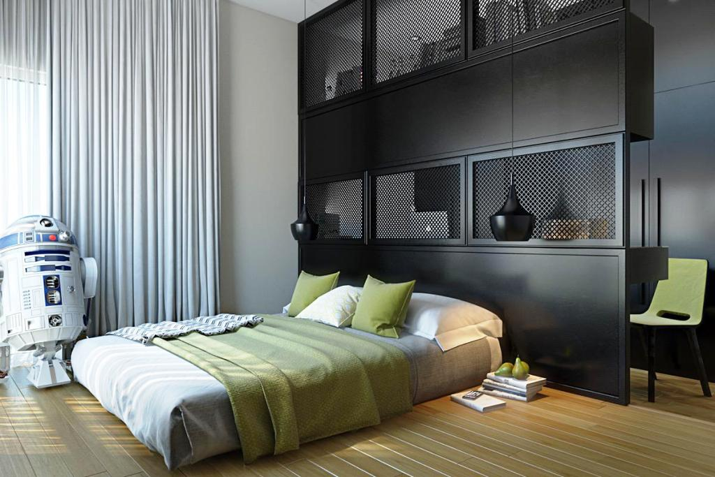 Image of: Masculine Bedroom Decorating Ideas