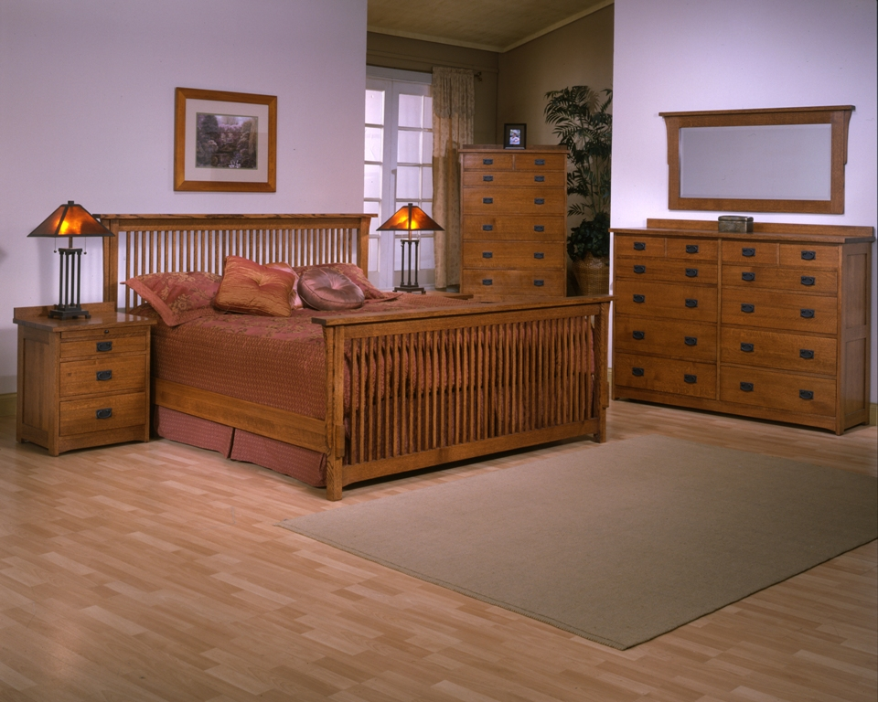 Image of: Mission Bedroom Furniture Cherry