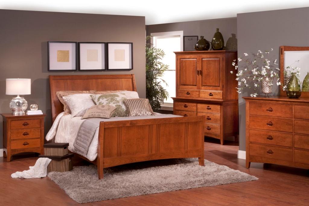 Image of: Mission Oak Bedroom Furniture Sets