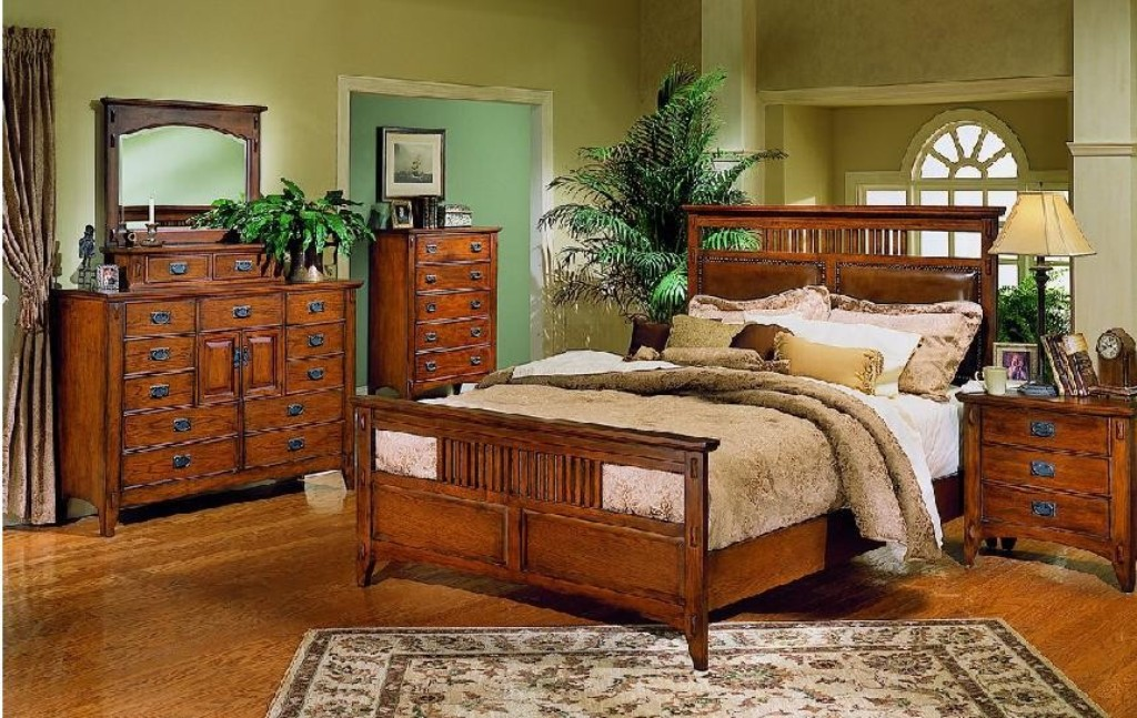 Image of: The Mission Style Bedroom Furniture