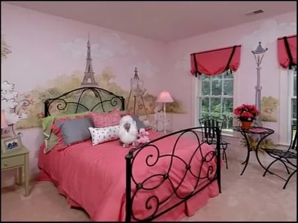 Image of: Paris Themed Bedroom ideas