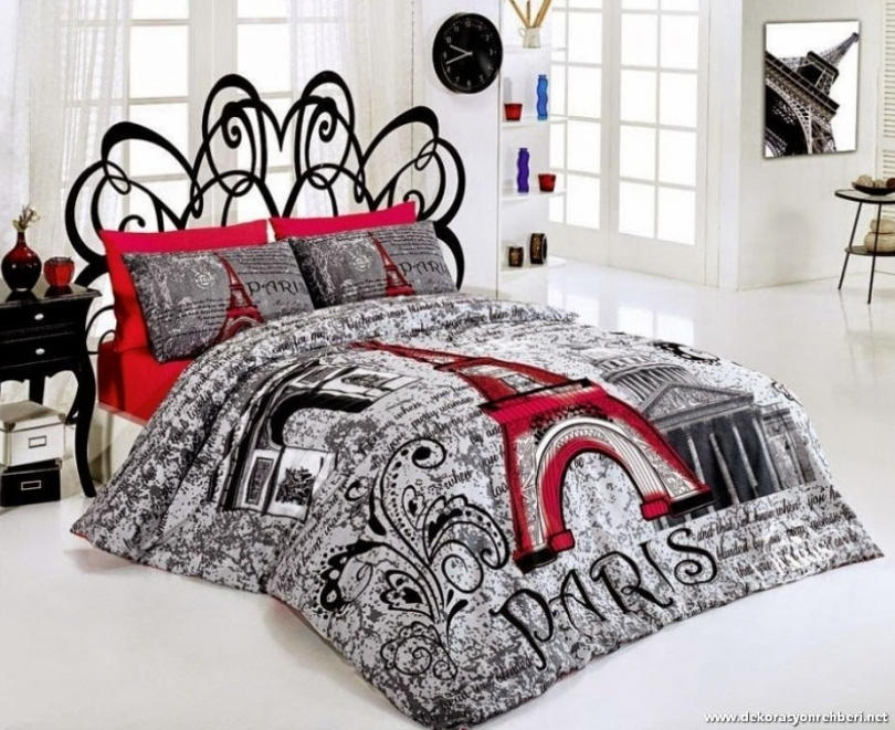 Image of: Paris Themed Bedroom nevresim