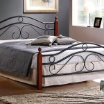 Queen Size Metal Bed Frame With Brackets For Headboard And Footboard