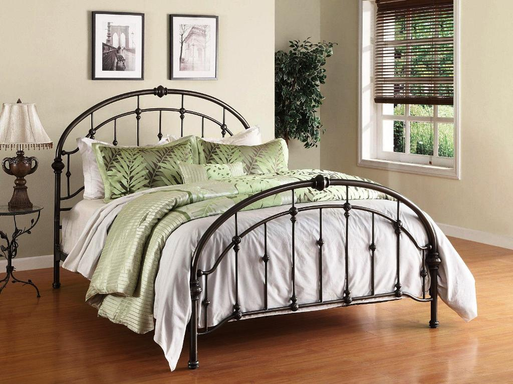 Image of: Queen Size Metal Bed Frame With Hooks