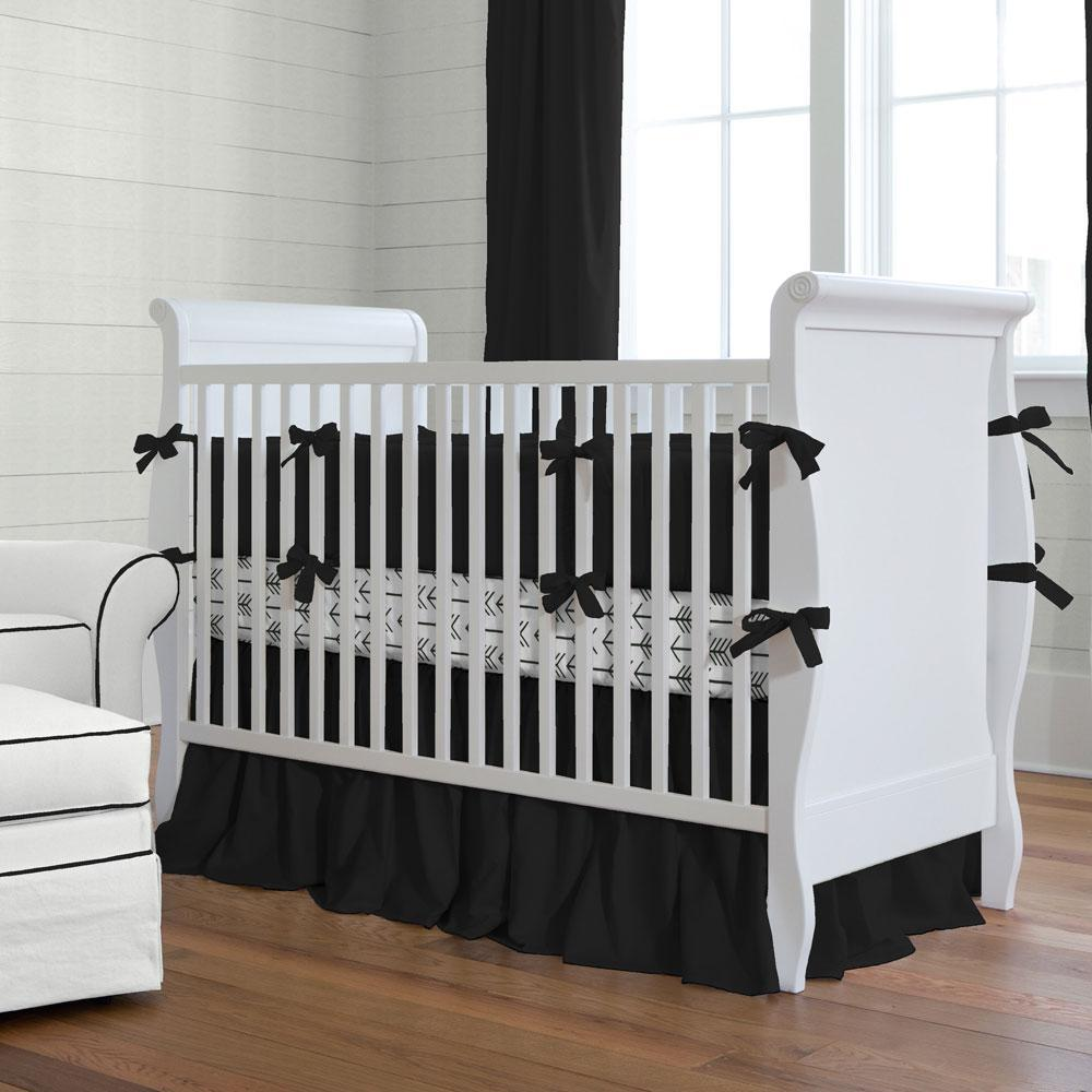 Image of: Solid Red Color Crib Bedding