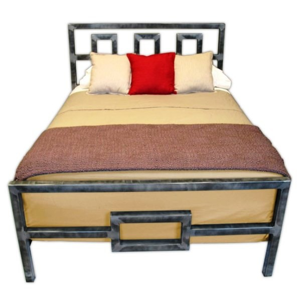 Image of: Steel Bed Frame Twin