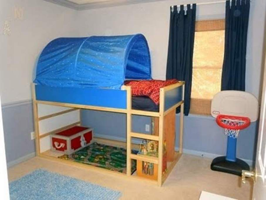 Image of: Toddler Tent Bed Boy