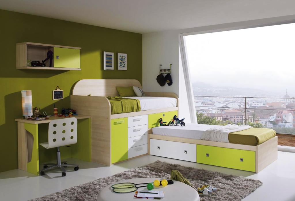 Image of: Twin Beds For Toddlers With Rail