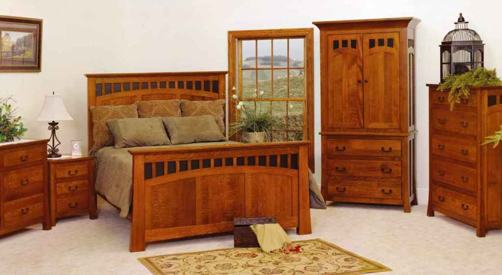Image of: White Mission Bedroom Furniture