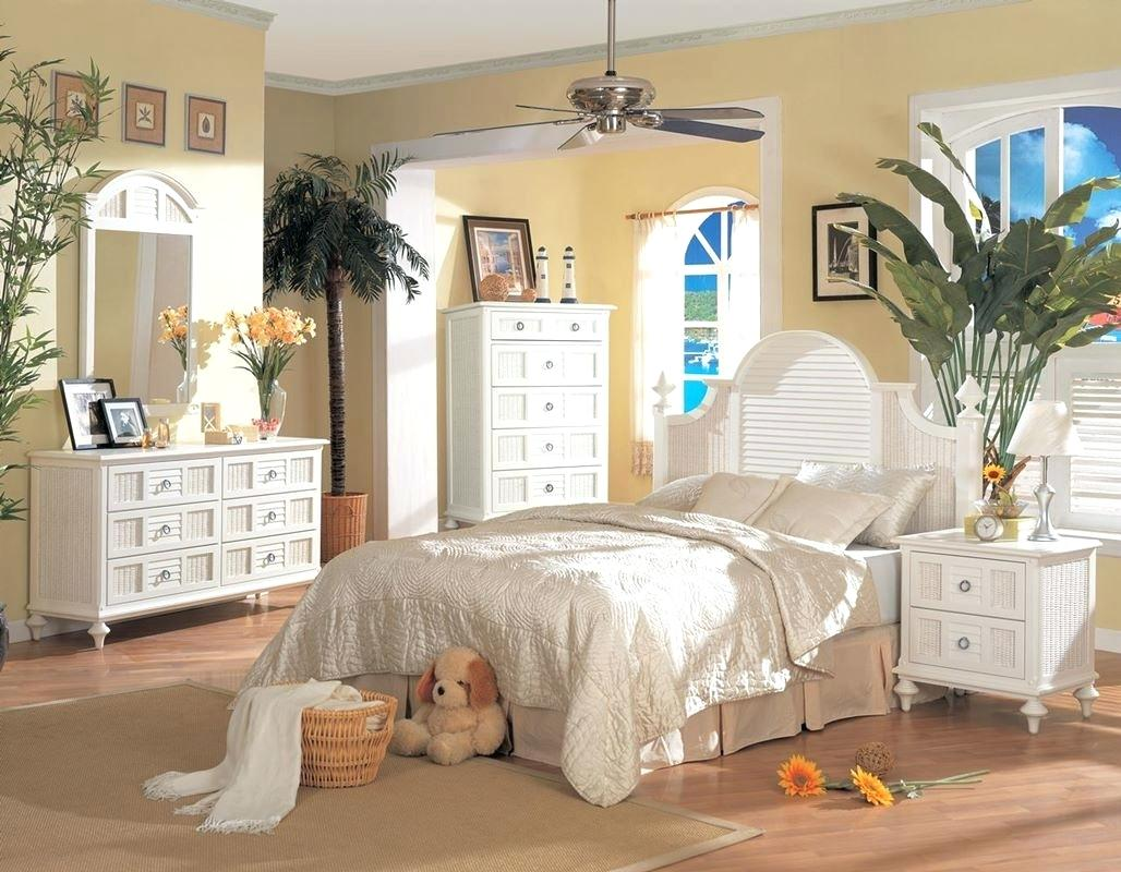 White Rattan Bedroom Furniture