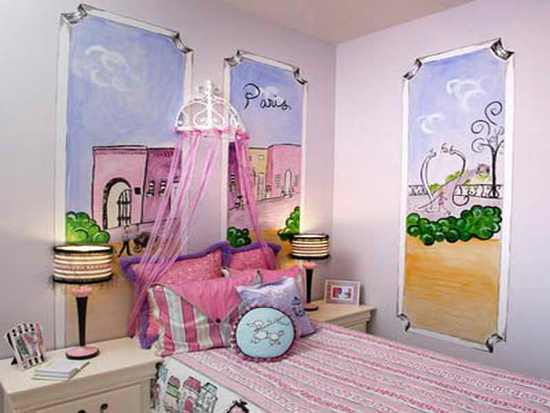 Image of: beautiful Paris Themed Bedroom